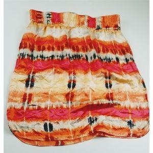 Banana republic size 8 silk skirt orange